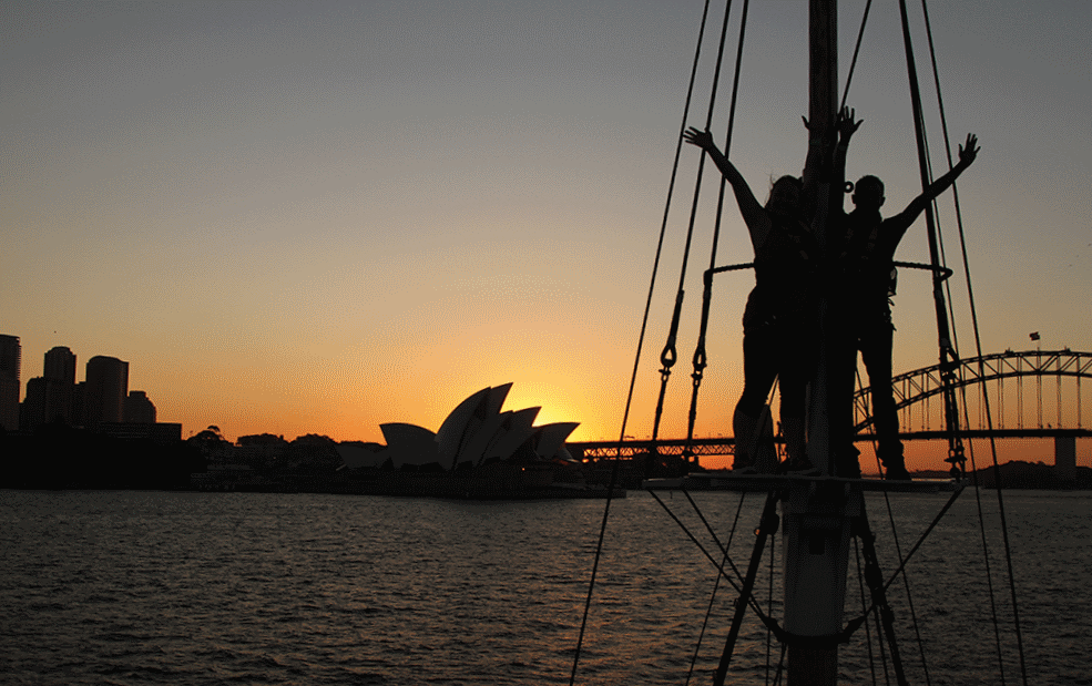 afternoon discovery cruise with sydney harbour tall ships
