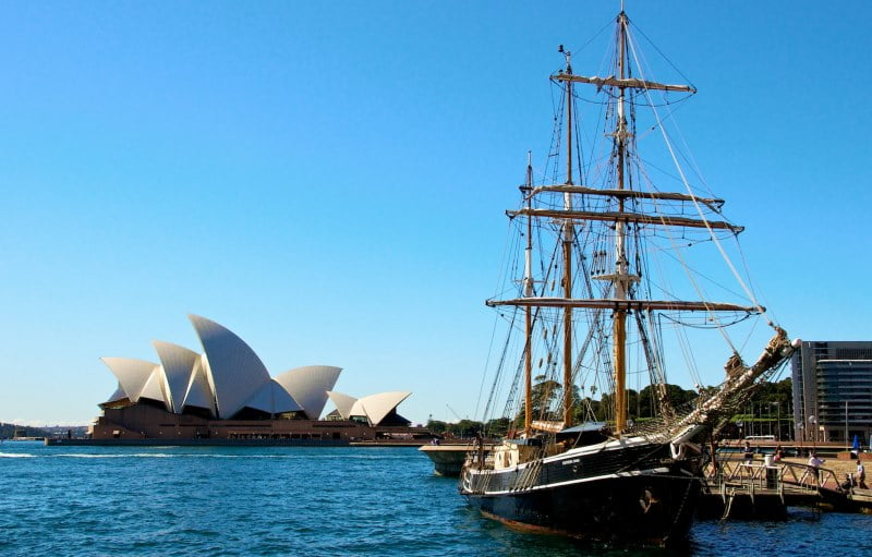 Sydney Harbour Sailing Ship Southern Swan